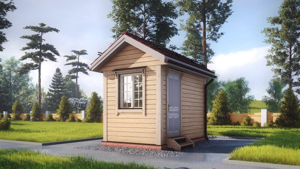 одноэтажный дом из сухого бруса площадью до 100 кв. м., проект 2.3 х 3.7 фотография 5377