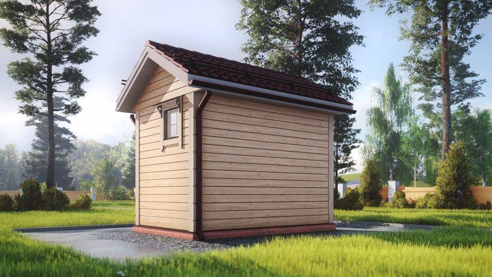 одноэтажный дом из сухого бруса площадью до 100 кв. м., проект 2.3 х 3.7 фотография 5378