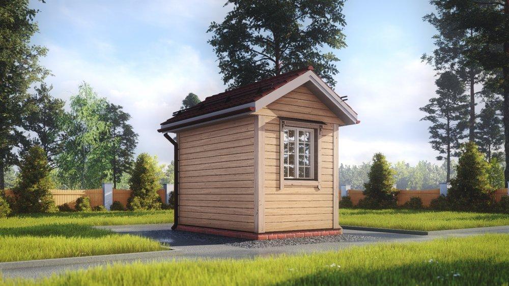 одноэтажный дом из сухого бруса площадью до 100 кв. м., проект 2.3 х 3.7 фотография 5379