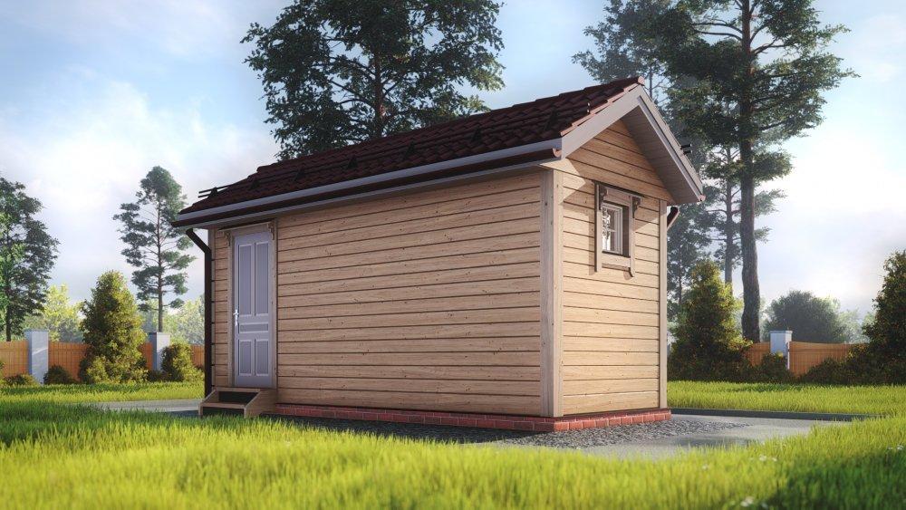 одноэтажный дом из сухого бруса площадью до 100 кв. м., проект 2.3 х 6 фотография 5382