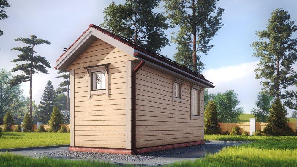 одноэтажный дом из сухого бруса площадью до 100 кв. м., проект 2.3 х 6 фотография 5383