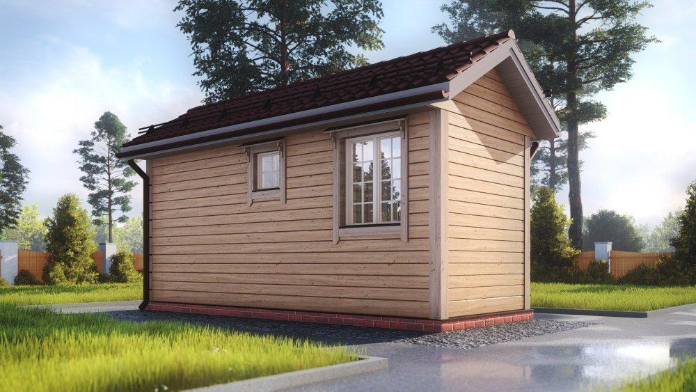 одноэтажный дом из сухого бруса площадью до 100 кв. м., проект 2.3 х 6 фотография 5384