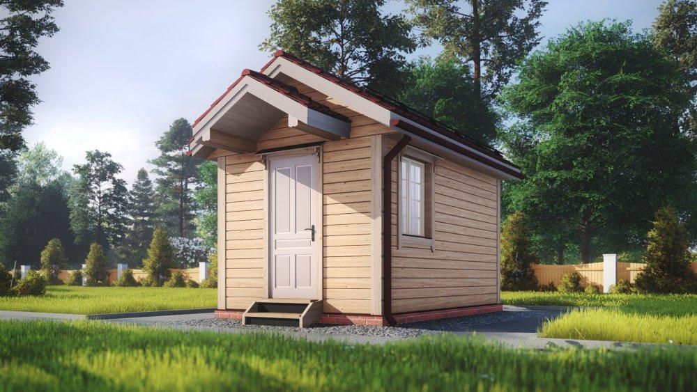 одноэтажный дом из сухого бруса площадью до 100 кв. м., проект 3 х 4.7 фотография 5387