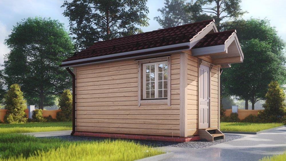 одноэтажный дом из сухого бруса площадью до 100 кв. м., проект 3 х 4.7 фотография 5388