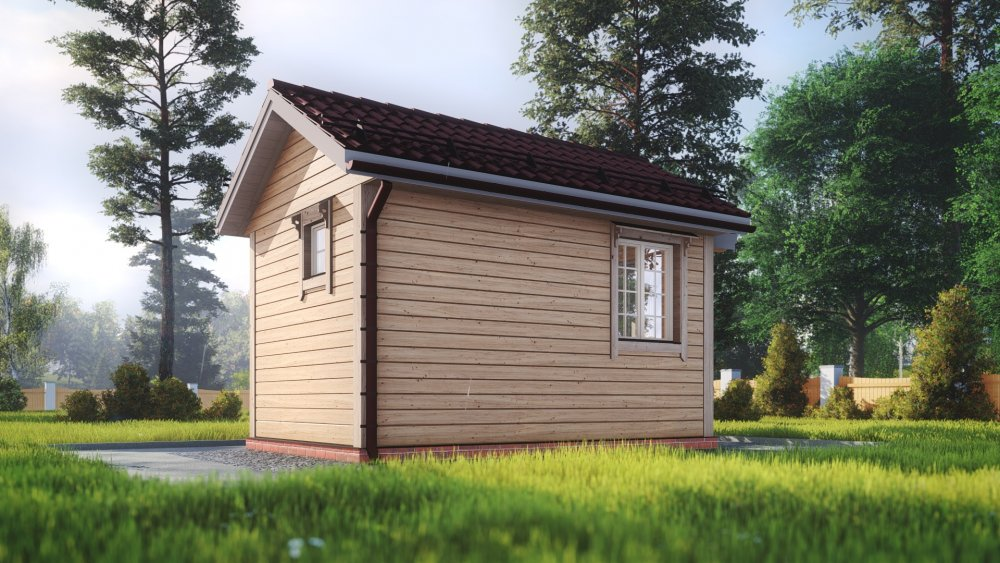одноэтажный дом из сухого бруса площадью до 100 кв. м., проект 3 х 4.7 фотография 5389