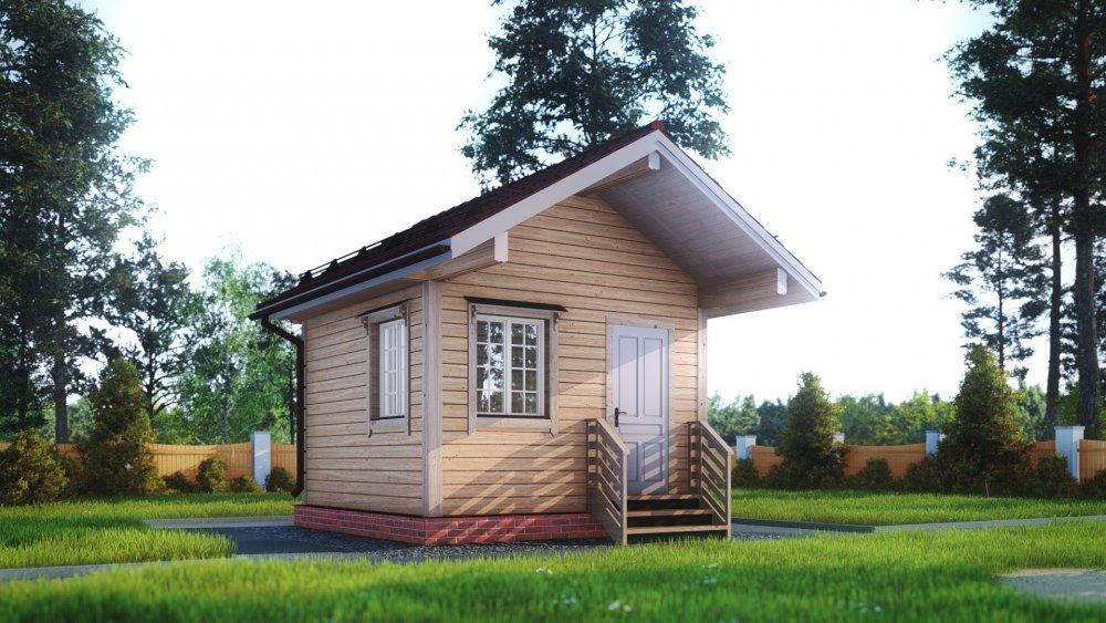 одноэтажный дом из сухого бруса площадью до 100 кв. м., проект 4 х 4 фотография 5400