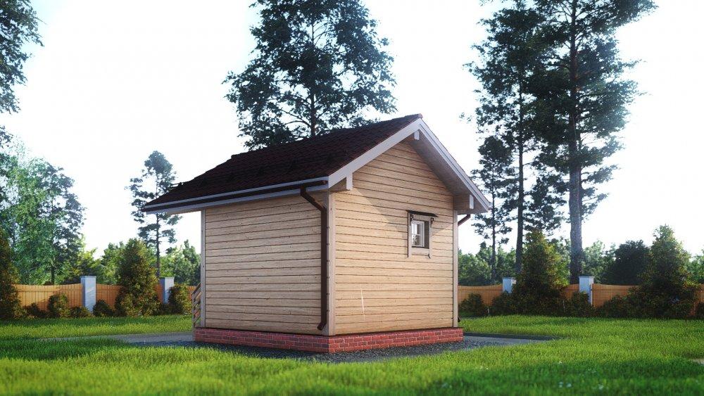 одноэтажный дом из сухого бруса площадью до 100 кв. м., проект 4 х 4 фотография 5401