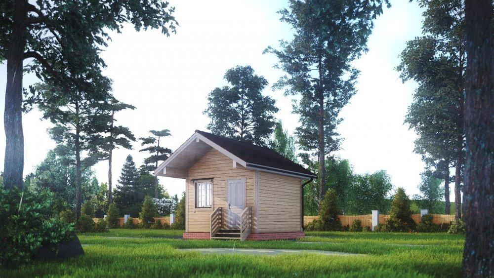 одноэтажный дом из сухого бруса площадью до 100 кв. м., проект 4 х 4 фотография 5402
