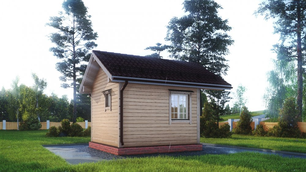 одноэтажный дом из сухого бруса площадью до 100 кв. м., проект 4 х 4 фотография 5403