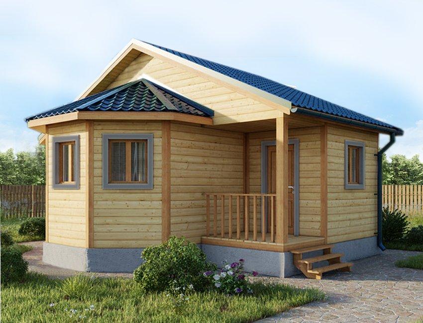 одноэтажный дом из сухого бруса площадью до 100 кв. м., проект 6 х 7 фотография 5411