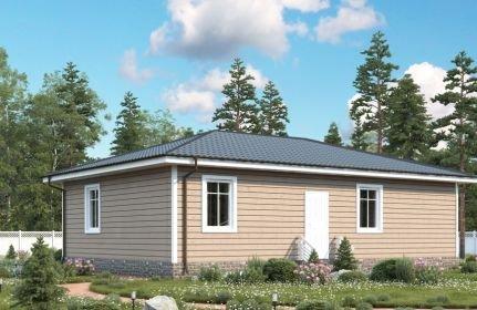 одноэтажный дом из профилированного бруса площадью от 100 до 150 кв. м., проект Кингисепп-53 фотография 5340