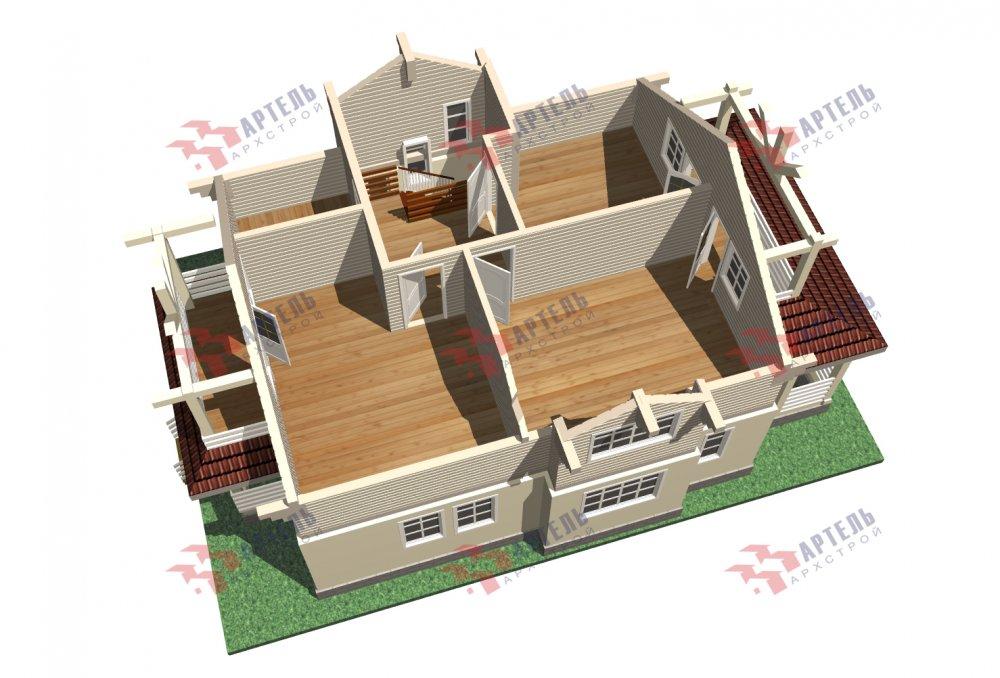 двухэтажный дом омбинированные дома площадью от 150 до 200 кв. м. с  террасой, проект Вариант 10.3Д Комбинированный фотография 5431