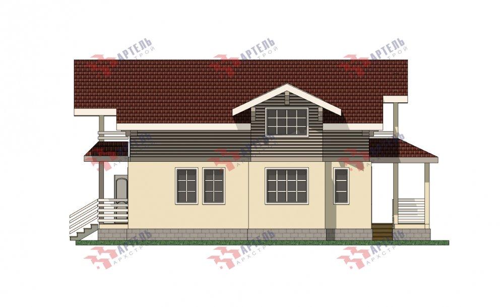 двухэтажный дом омбинированные дома площадью от 150 до 200 кв. м. с  террасой, проект Вариант 10.3Д Комбинированный фотография 5432