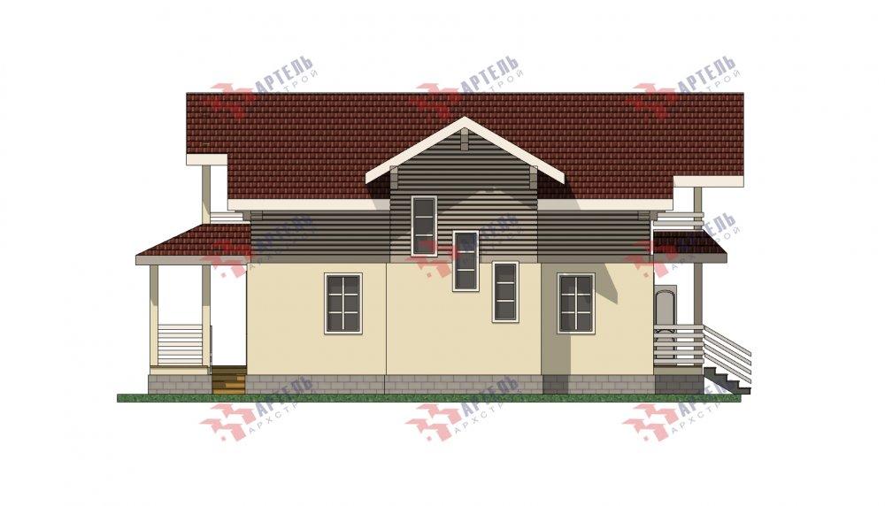 двухэтажный дом омбинированные дома площадью от 150 до 200 кв. м. с  террасой, проект Вариант 10.3Д Комбинированный фотография 5433