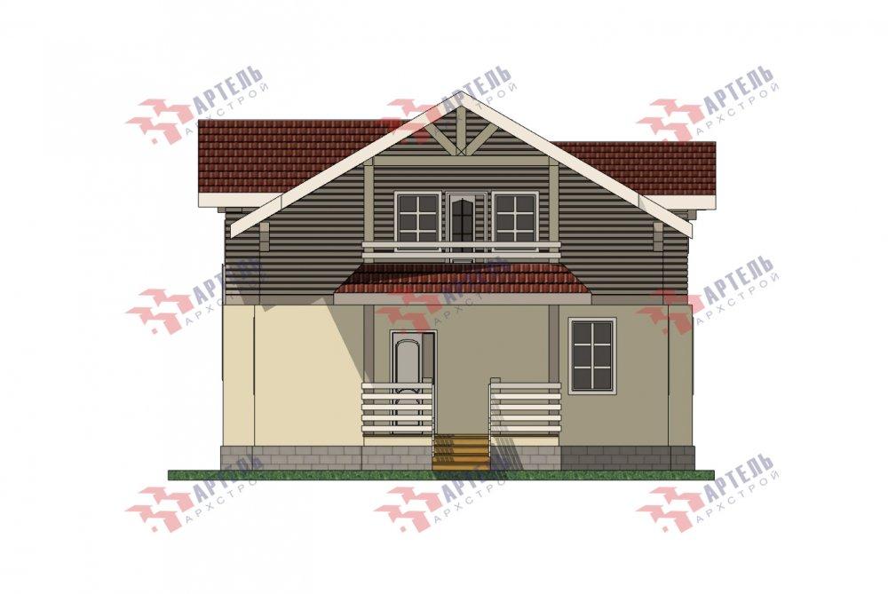 двухэтажный дом омбинированные дома площадью от 150 до 200 кв. м. с  террасой, проект Вариант 10.3Д Комбинированный фотография 5434