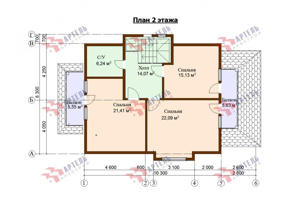 двухэтажный дом омбинированные дома площадью от 150 до 200 кв. м. с  террасой, проект Вариант 10.3Д Комбинированный фотография 5437