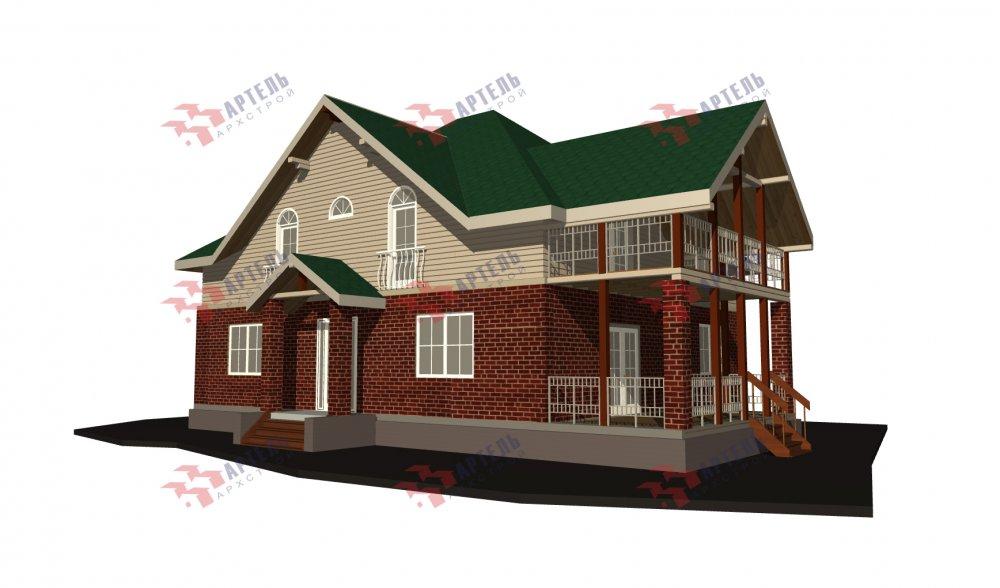 двухэтажный дом омбинированные дома площадью свыше 200 кв. м., проект Вариант 12.8М Комбинированный фотография 5297