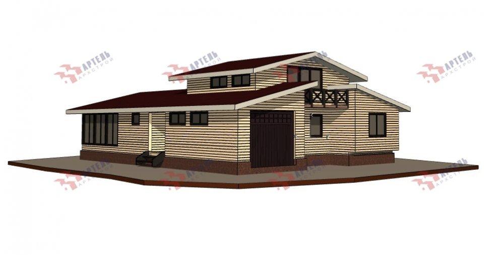 одноэтажный дом из профилированного бруса площадью свыше 200 кв. м., проект Вариант 12.4Л-Н фотография 5009