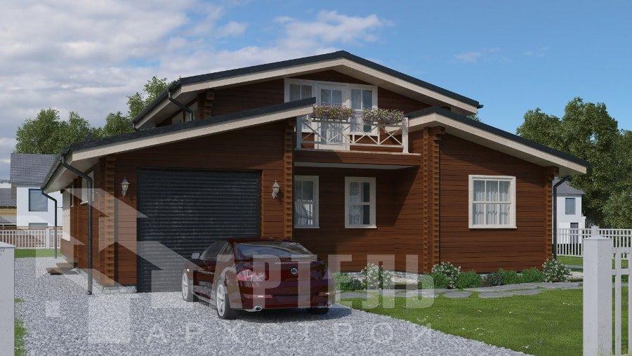 одноэтажный дом из профилированного бруса площадью свыше 200 кв. м., проект Вариант 12.4Л-Н фотография 5015