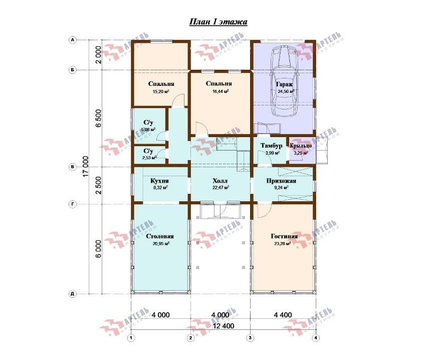 одноэтажный дом из профилированного бруса площадью свыше 200 кв. м., проект Вариант 12.4Л-Н фотография 5004
