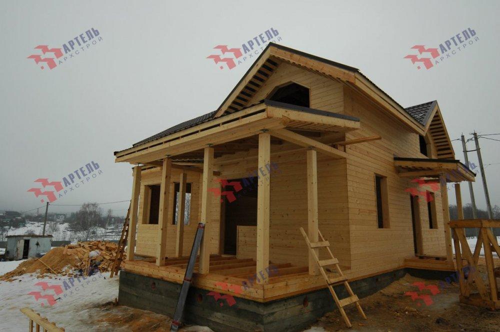 дом из профилированного бруса построенный по проекту Вариант 9.3В фотография 5119