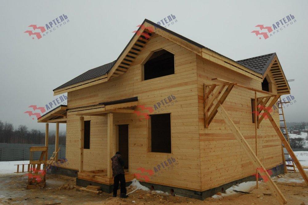 дом из профилированного бруса построенный по проекту Вариант 9.3В фотография 5120