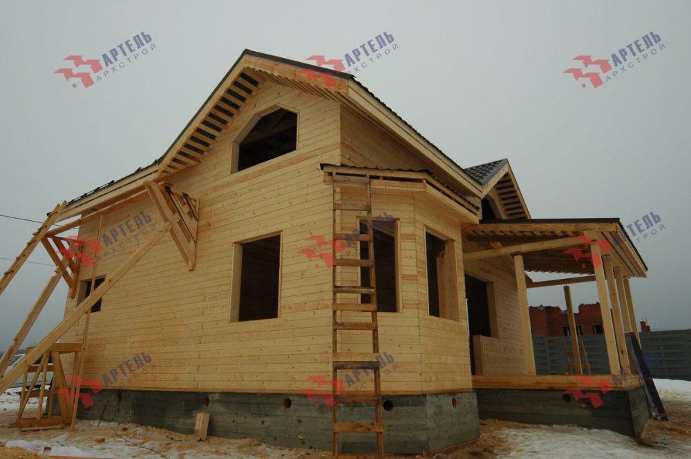 дом из профилированного бруса построенный по проекту Вариант 9.3В фотография 5121