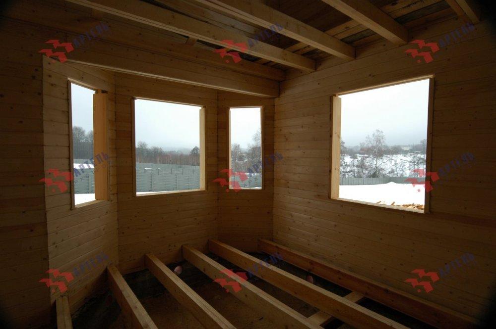 дом из профилированного бруса построенный по проекту Вариант 9.3В фотография 5122