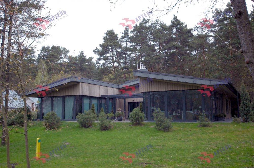дом из профилированного бруса построенный по проекту Вариант 12.4Л-Н фотография 5114