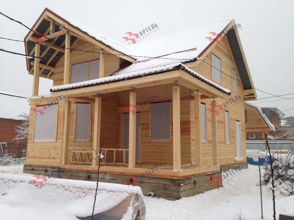 дом из бруса построенный по проекту Вариант 10.7Л фотография 5097