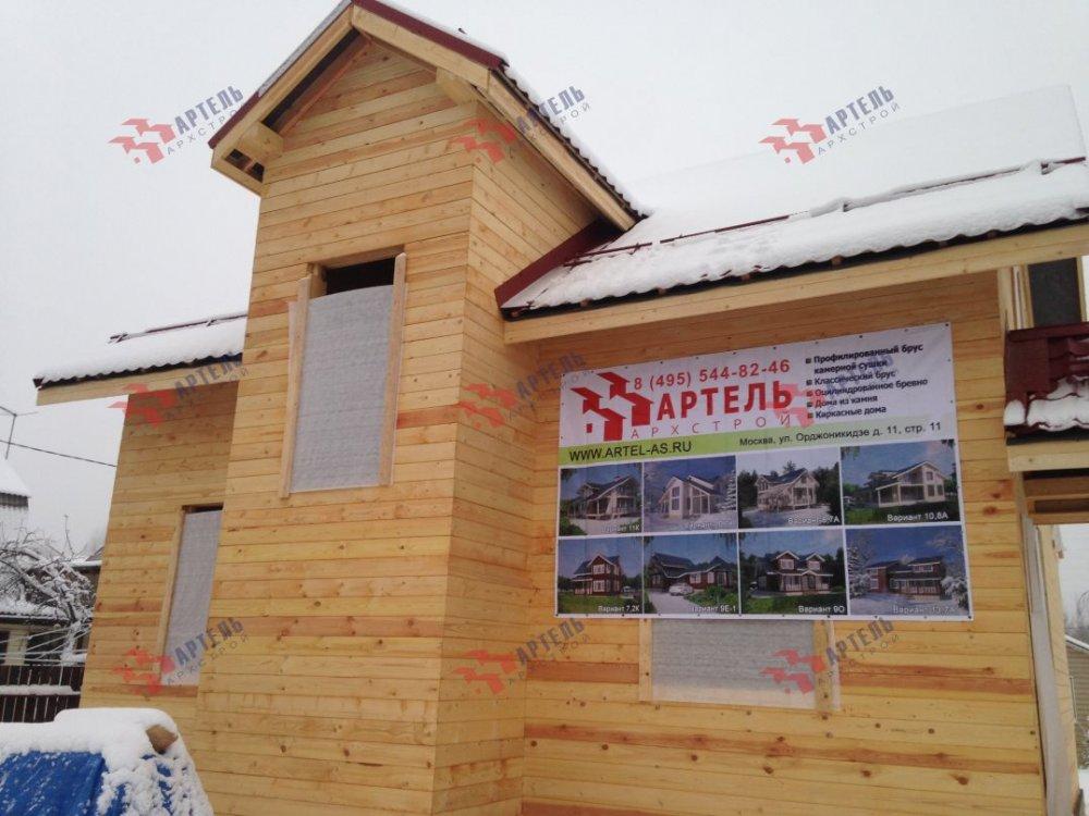 дом из бруса построенный по проекту Вариант 10.7Л фотография 5098