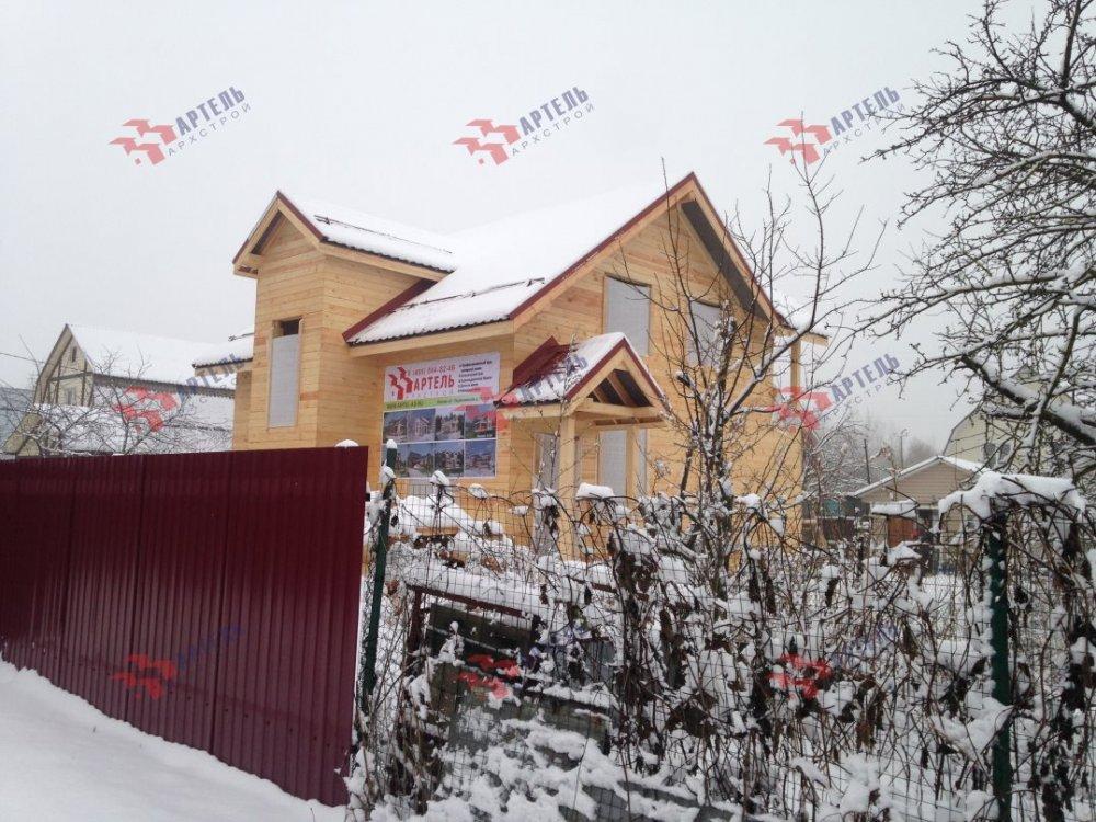 дом из бруса построенный по проекту Вариант 10.7Л фотография 5099