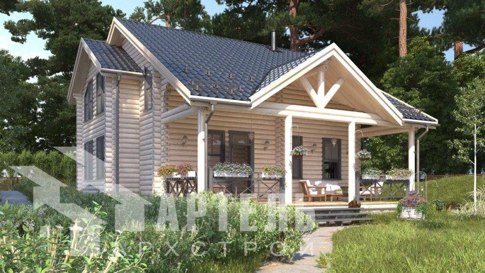 двухэтажный дом из профилированного бруса площадью от 100 до 150 кв. м., проект Вариант 8,4Б фотография 5064