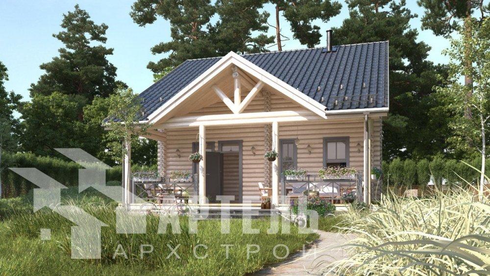 двухэтажный дом из профилированного бруса площадью от 100 до 150 кв. м., проект Вариант 8,4Б фотография 5065