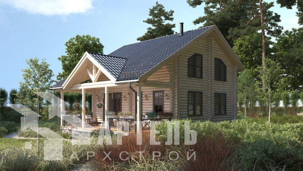 двухэтажный дом из профилированного бруса площадью от 100 до 150 кв. м., проект Вариант 8,4Б фотография 5066