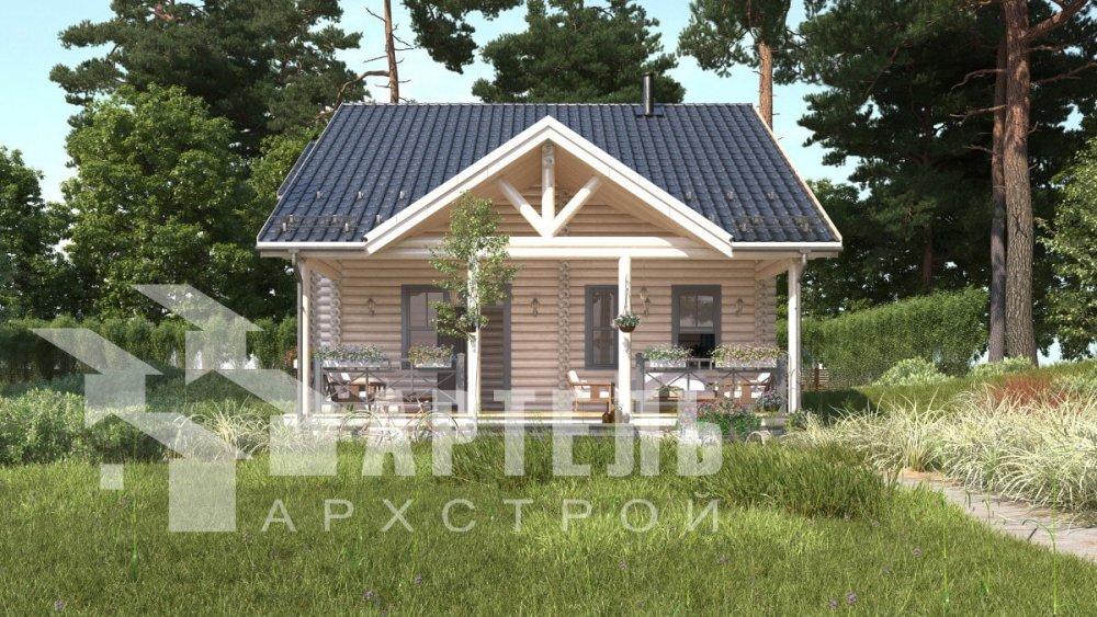 двухэтажный дом из профилированного бруса площадью от 100 до 150 кв. м., проект Вариант 8,4Б фотография 5069