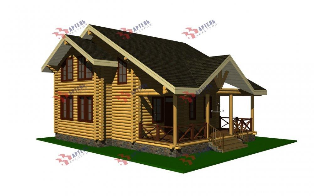 двухэтажный дом из профилированного бруса площадью от 100 до 150 кв. м., проект Вариант 8,4Б фотография 5071