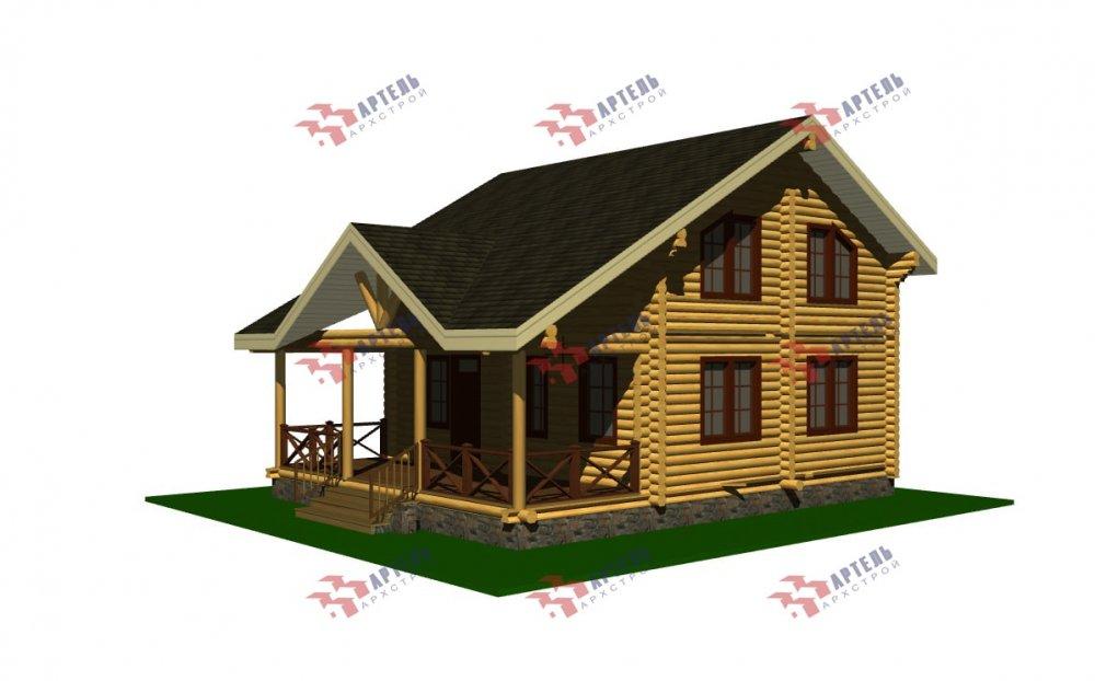 двухэтажный дом из профилированного бруса площадью от 100 до 150 кв. м., проект Вариант 8,4Б фотография 5072