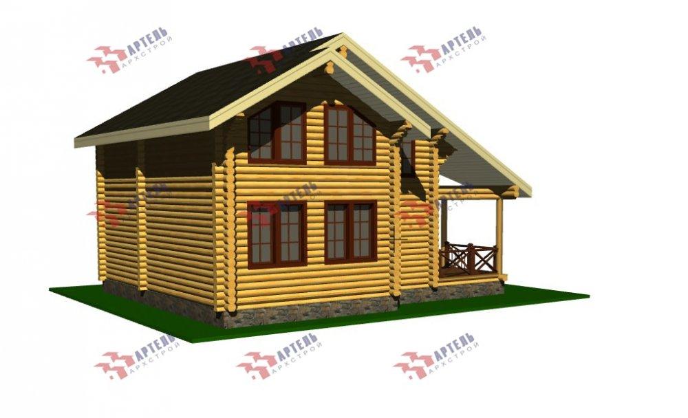 двухэтажный дом из профилированного бруса площадью от 100 до 150 кв. м., проект Вариант 8,4Б фотография 5073