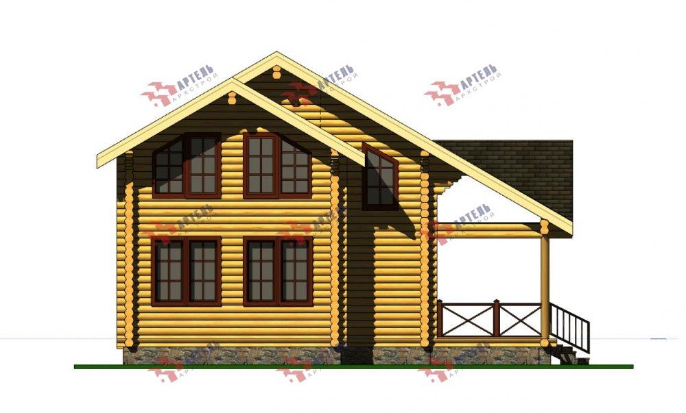 двухэтажный дом из профилированного бруса площадью от 100 до 150 кв. м., проект Вариант 8,4Б фотография 5074