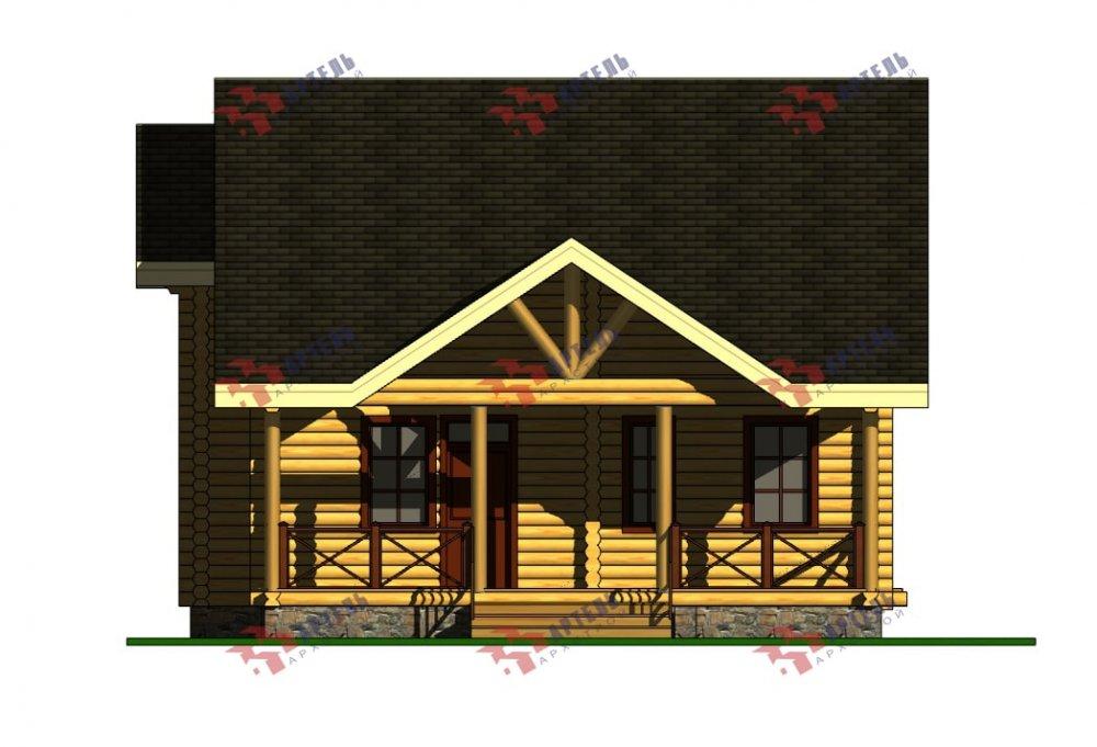 двухэтажный дом из профилированного бруса площадью от 100 до 150 кв. м., проект Вариант 8,4Б фотография 5075