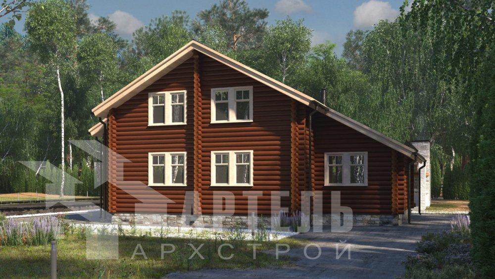 двухэтажный дом из профилированного бруса площадью от 150 до 200 кв. м., проект Вариант 9,1А фотография 5039