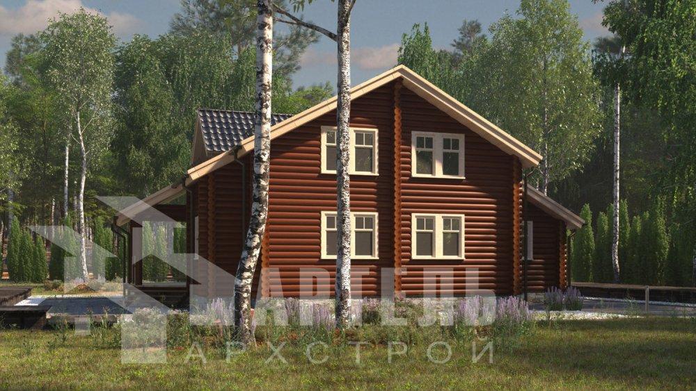 двухэтажный дом из профилированного бруса площадью от 150 до 200 кв. м., проект Вариант 9,1А фотография 5040