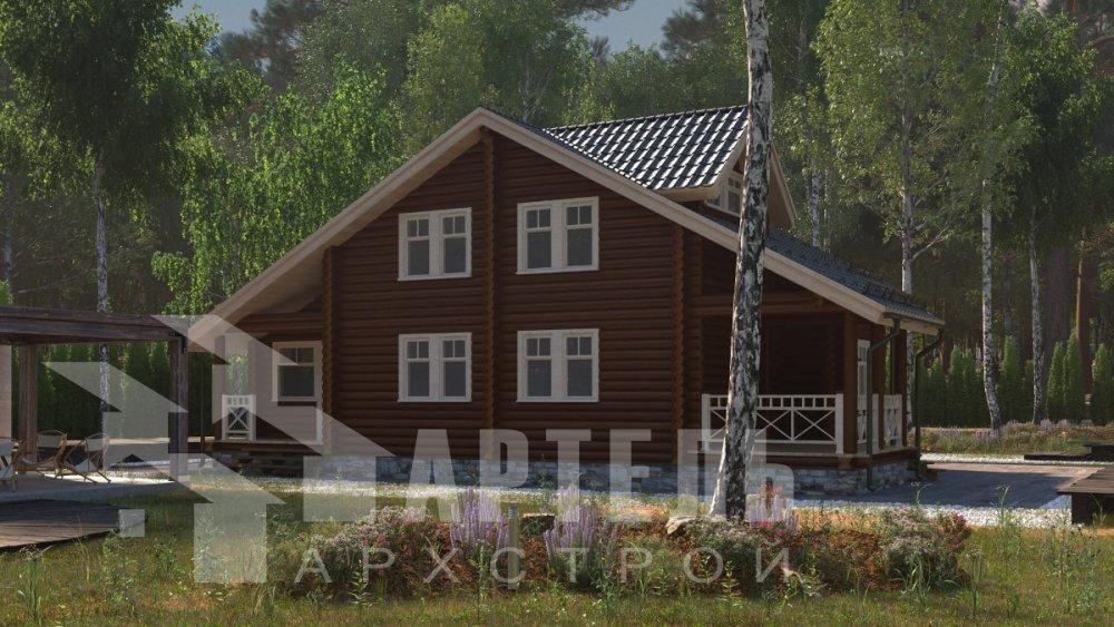 двухэтажный дом из профилированного бруса площадью от 150 до 200 кв. м., проект Вариант 9,1А фотография 5043