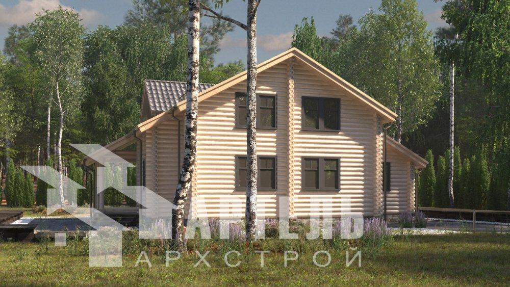 двухэтажный дом из профилированного бруса площадью от 150 до 200 кв. м., проект Вариант 9,1А фотография 5046