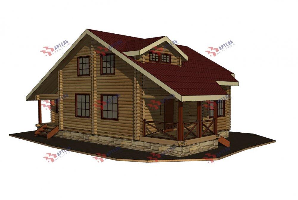 двухэтажный дом из профилированного бруса площадью от 150 до 200 кв. м., проект Вариант 9,1А фотография 5050