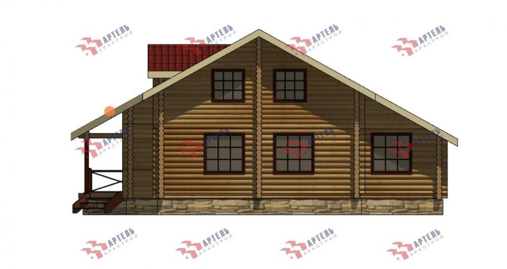 двухэтажный дом из профилированного бруса площадью от 150 до 200 кв. м., проект Вариант 9,1А фотография 5055