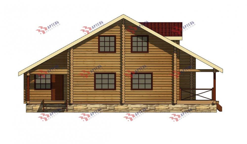 двухэтажный дом из профилированного бруса площадью от 150 до 200 кв. м., проект Вариант 9,1А фотография 5057