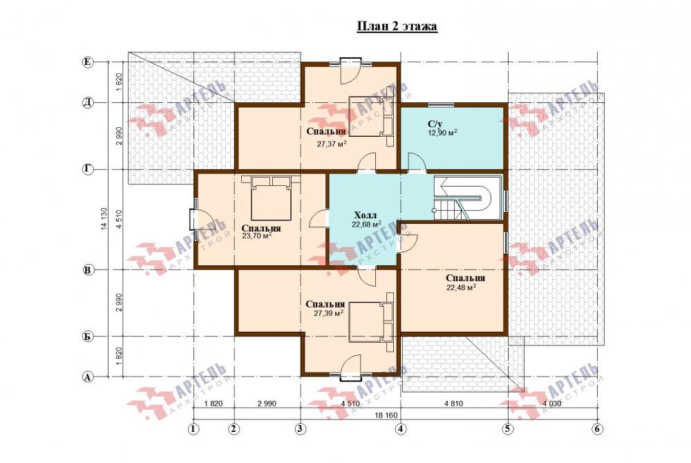 двухэтажный дом омбинированные дома площадью свыше 200 кв. м., проект Вариант 14К фотография 5259
