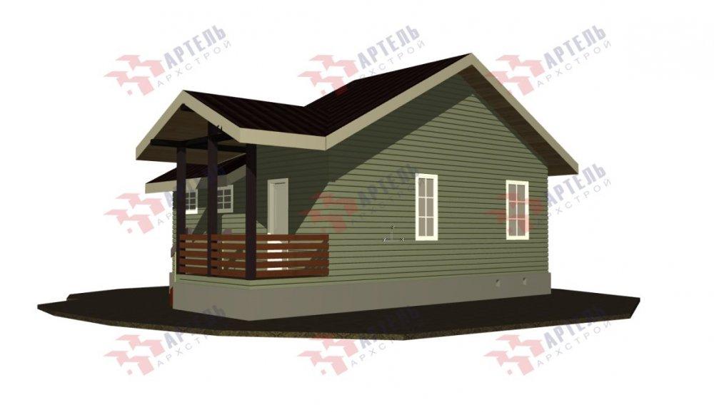 двухэтажный дом из бруса площадью от 100 до 150 кв. м. с  мансардой, проект Вариант 7М фотография 5106